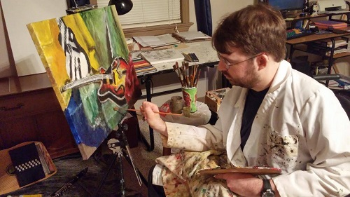 picture of Jonathan painting
